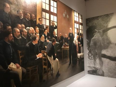 André Brouillet (1857-1914) & Gustav Klimt (1862-1918)La médecine (1900-1907) reproduction nb d'un détail.