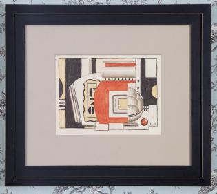 """Fernand Léger (1881-1955) """"Composition aux pommes"""", 1925 Gouache sur papier monogrammé F. L. et daté en bas à droite H. 26 cm L. 34 cm 200 000 / 300 000 €"""