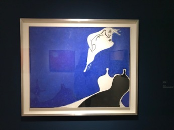 "Osvaldo Licini ""La pathétique"" huile sur toile 1949-1950"
