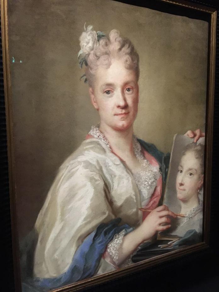 ROSALBA CARRIERA Autoportrait 1708 1709 pastel sur papier