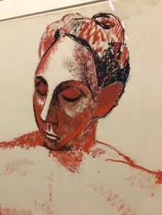 """Pablo Picasso """"Femme à la tête rouge"""" hiver 1906-1907"""