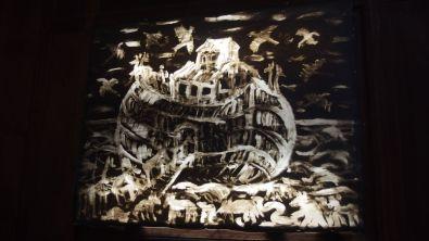 Jean Murgue Arche de Noé Graisse et huile de vidange sur papier canson