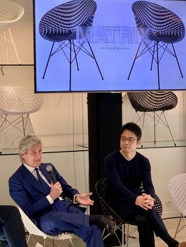 Claudio Luti, Président de KARTELL et Tokujin Yoshioka