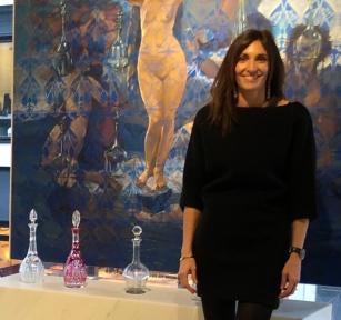 Laurence Bonnel dans sa galerie Scène Ouverte - Beaupassage, Paris