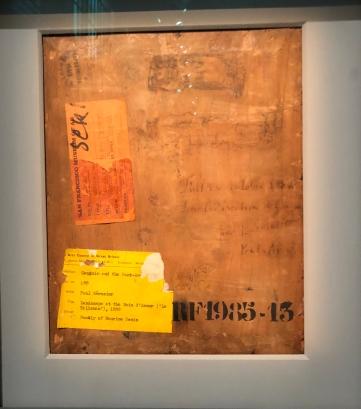 Paul Sérusier (1864-1927) Le talisman dit aussi Paysage au Bois d'Amour Verso 1888 - Huile sur bois - Musée d'Orsay Avec inscription Fait en octobre 1888, sous la direction de Gauguin par P. Sérusier Pont Aven