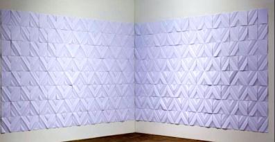Ignacio Uriarte Papier plié@ galerie NoguerasBlanchard
