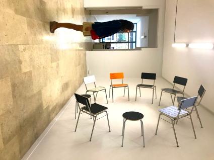 jouant avec la perspective, réaction à Thomas Locher@Galeria Helga de Alvear
