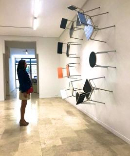 jouant avec la perspective réaction àThomas Locher@Galeria Helga de Alvear