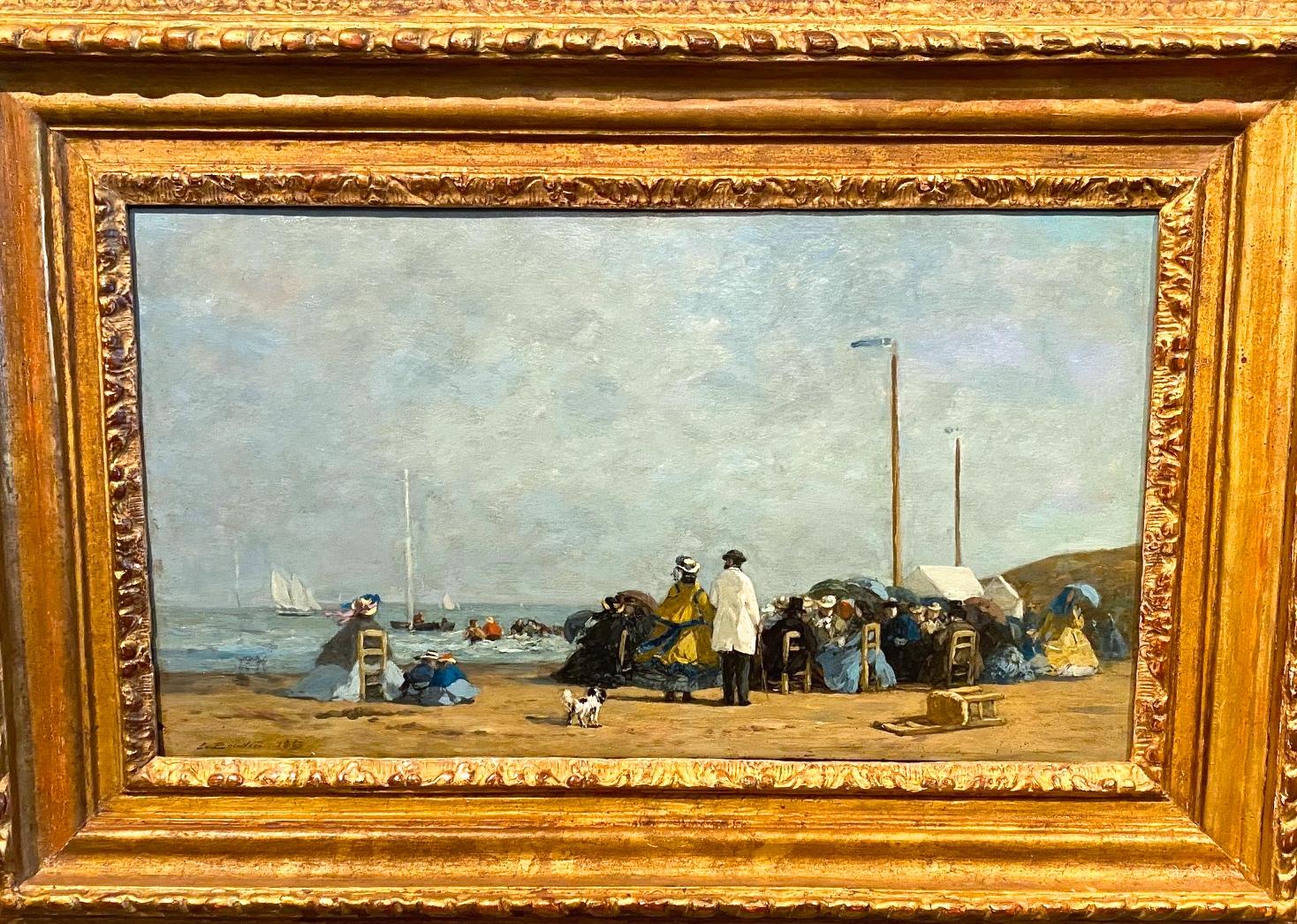 Eugène Boudin, Crinolines sur la plage, 1863