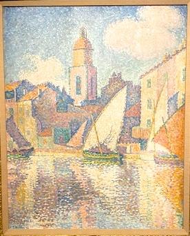 Paul Signac,clocher de St Tropez,1896