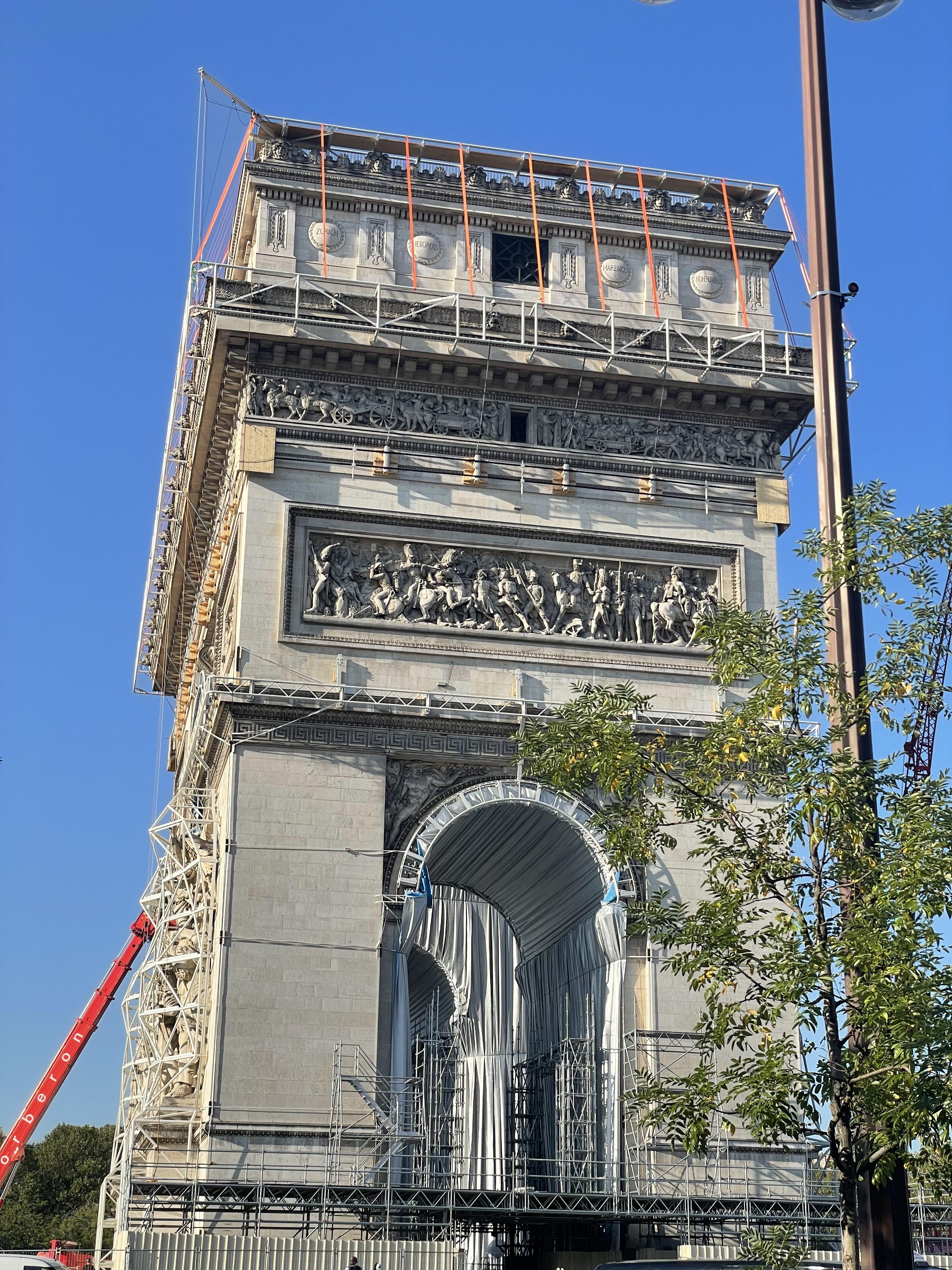 Arc de Triomphe empaqueté